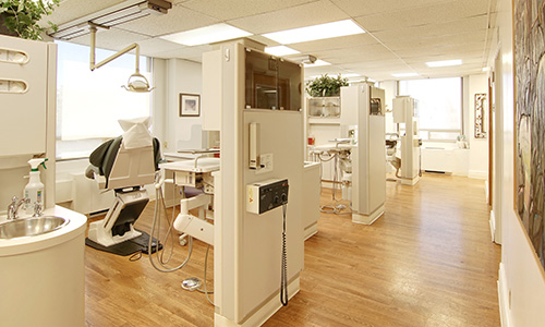 Interior shot of the dental offices and chairs at Dr. Martha Rich, DMD